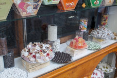 Istanbul candy shop. Sweet delights on display in a candy shop in Istanbul, Turkey Stock Photo