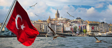 Istanbul the capital of Turkey. Eastern tourist city stock photos