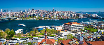 Istanbul the capital of Turkey. Eastern tourist city Royalty Free Stock Photo
