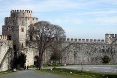 Istanbul Castle. Istanbul Walls in istanbul,Turkey Stock Photo
