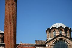 Istanbul church and mosque Royalty Free Stock Image