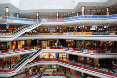 ISTANBUL - CIRCA APRIL 2014: Biggest mall with shops, cinema, fo Stock Photo