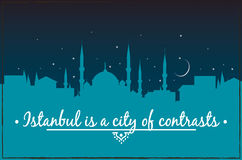 Istanbul is a city of contrasts Royalty Free Stock Images