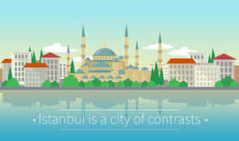 Istanbul is a city of contrasts Stock Images