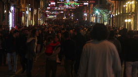 Istanbul city/crowd / People/ time lapse/istiklal street/ december 2015. Crowd / People/ time lapse/istiklal street/december 2015 / istanbul HD 1080 stock video