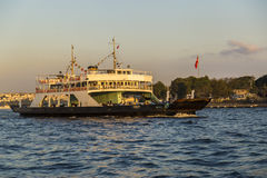Istanbul City Ferry That Carries Automobile Royalty Free Stock Images