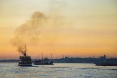 Istanbul City Ferry Stock Photo