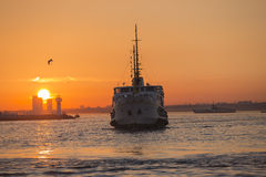 Istanbul City Ferry Royalty Free Stock Photography