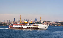Istanbul city ferryboat Stock Photos