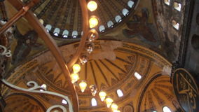 Istanbul city, Hagia Sophia, people,   December 2016, Turkey stock video