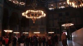 Istanbul city, Hagia Sophia, people,   December 2016, Turkey stock video footage