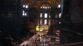 Istanbul city, Hagia Sophia people,  December 2016, Turkey stock footage