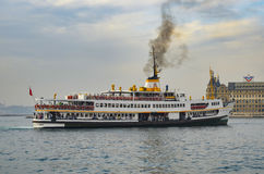 Istanbul City Lines Ferry. Istanbul, Turkey - November 9, 2014: The ferry service to transport passengers in the Istanbul Strait, which City Lines Ferries Stock Images
