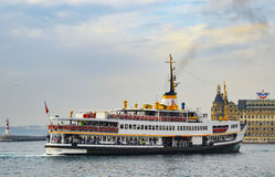 Istanbul City Lines Ferry. Istanbul, Turkey - November 9, 2014: The ferry service to transport passengers in the Istanbul Strait, which City Lines Ferries Royalty Free Stock Images