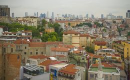 Istanbul city. Modern and old buildings in Istanbul city Stock Image