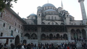 /Istanbul city/mosque/islam/december 2015 stock video footage