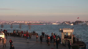Istanbul city Nature view sea stock footage
