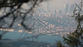 Istanbul city Nature view sea stock video