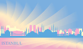 Istanbul city skyline Royalty Free Stock Photo