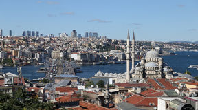 Istanbul City in Turkey. Eminonu and Karakoy District in Istanbul City, Turkey royalty free stock photo