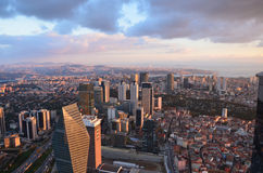 Istanbul city view at an altitude of 280 m Royalty Free Stock Photo