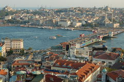 Istanbul Cityscape. Sultanahmed view seen from Galata tower stock photo