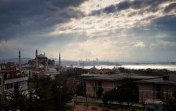 Istanbul cityscape Arkivfoton