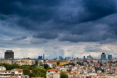 Istanbul cityscape as seen from the Bosphorus. Istanbul cityskype as seen from the Bosphorus Stock Images