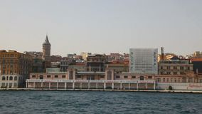 Istanbul cityscape with Galata tower stock video footage