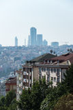 Istanbul cityscape. Old and new buildings are to be found in Istanbul, one of the most beautiful and diverse cities in the world Stock Image