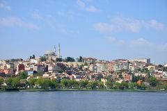 Istanbul cityscape. View from Golden Horn Royalty Free Stock Image