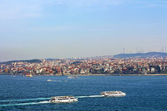 Istanbul Coast, Asian side and Maiden tower, Turkey Royalty Free Stock Photo