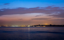 Istanbul coast at Night Stock Photography