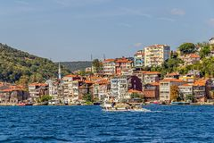 Istanbul coast in Sariyer district Royalty Free Stock Photos
