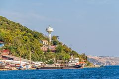 Istanbul coast in Sariyer near Black sea Royalty Free Stock Photography