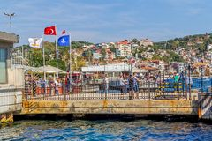 Istanbul coast in Sariyer Stock Images