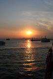 Istanbul Coast on Sunset Stock Photography