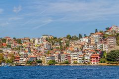 Istanbul coastal Sariyer Stock Photos