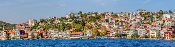 Istanbul coastal Sariyer Royalty Free Stock Photography