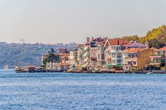 Istanbul coastal Sariyer Royalty Free Stock Image
