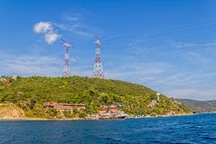 Istanbul coastal Sariyer Stock Photography