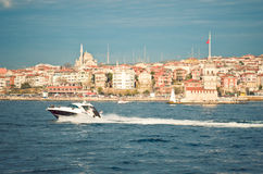 Istanbul coastline Royalty Free Stock Photos