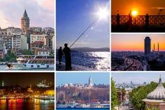 Istanbul collage royaltyfria bilder
