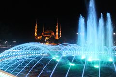 Istanbul - Colorful fountain royalty free stock photo