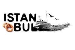 Istanbul concept logo Royalty Free Stock Photos