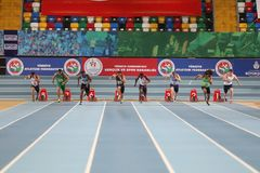 Istanbul Cup Indoor Athletics Royalty Free Stock Photography