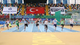 Istanbul Cup Indoor Athletics Royalty Free Stock Photo