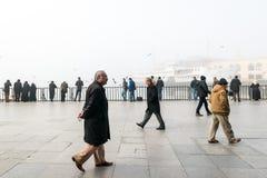 Istanbul dans un brouillard enfumé Image stock