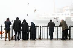 Istanbul dans un brouillard enfumé Photographie stock