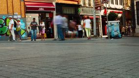 Istanbul. Day. A lot of unrecognizable people. Timelapse. Istanbul, Turkey. Day. A lot of unrecognizable people. Timelapse stock video footage